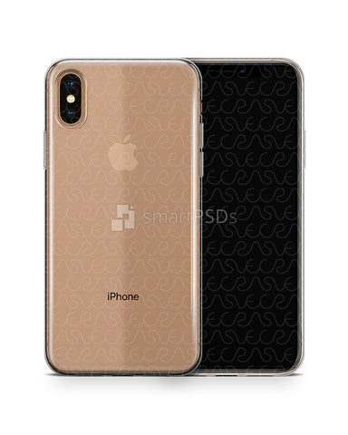 Apple iPhone Xs Max UV TPU Clear Case Mockup 2018