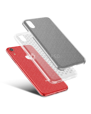 Apple iPhone XR 3d Dual Protective Clear TPU Cover Design Template (Clear)