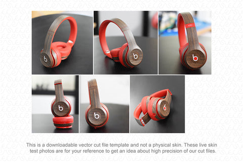 Beats Solo 2 Wired On-Ear Headphones (2014) Skin Cutting Template