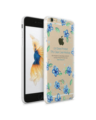 iPhone 6s Plus UV TPU Case with Frosted Edges Design Mockup 2015 (Front-Back angled)