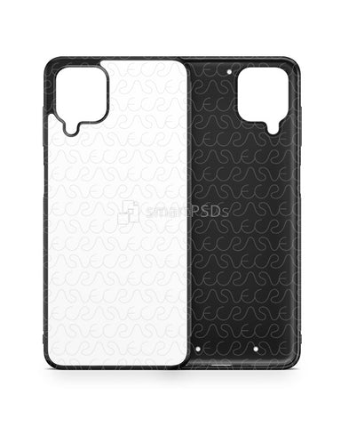 Galaxy A12 (2020) 2d Rubber Flex Case Design Mockup