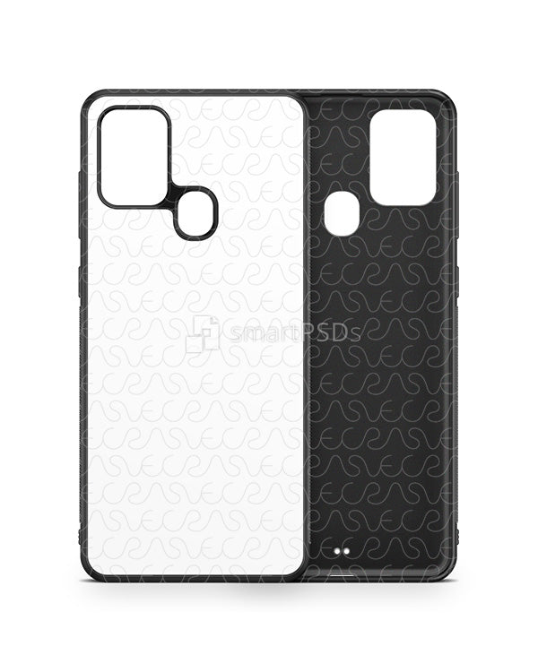 Samsung Galaxy A21s (2020) 2d Rubber Flex Case Design Mockup