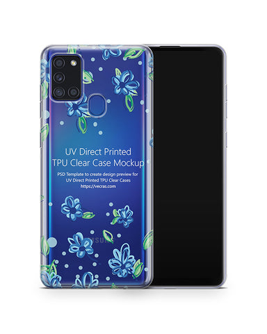 Galaxy A21s (2020) TPU Clear Case Mockup
