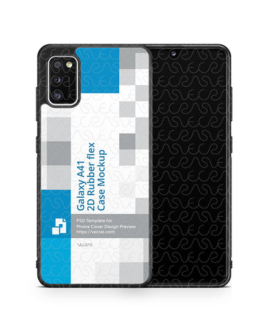 Galaxy A41 (2020) 2d Rubber Flex Case Design Mockup
