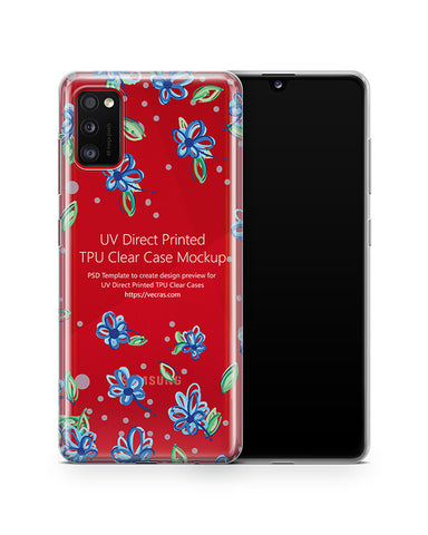 Galaxy A41 (2020) TPU Clear Case Mockup