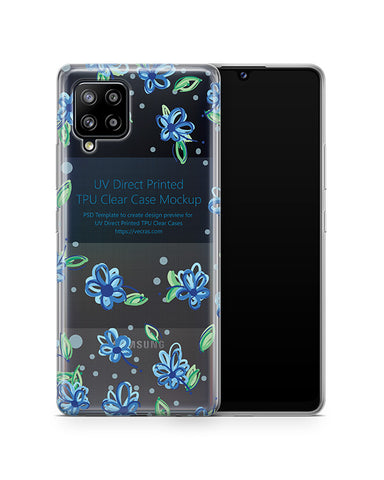 Galaxy A42 (2020) TPU Clear Case Mockup