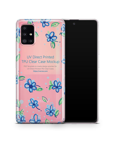 Galaxy A51 5G (2020) TPU Clear Case Mockup