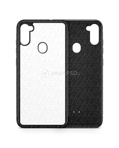 Galaxy M11 (2020) 2d Rubber Flex Case Design Mockup
