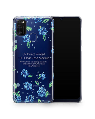 Galaxy M21 (2020) TPU Clear Case Mockup