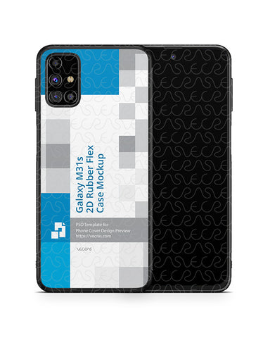 Galaxy M31s (2020) 2d Rubber Flex Case Design Mockup