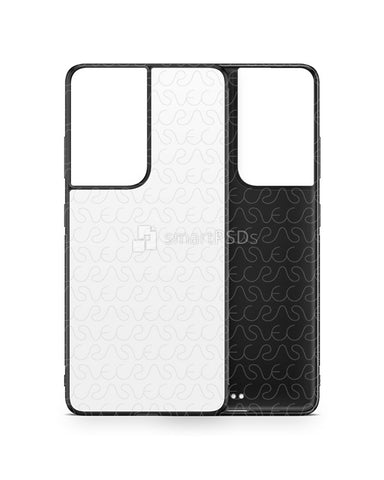 Galaxy S21 Ultra 5G (2021) 2d Rubber Flex Case Design Mockup