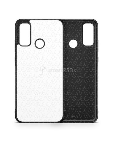 Huawei P Smart (2020) 2d Rubber Flex Case Design Mockup