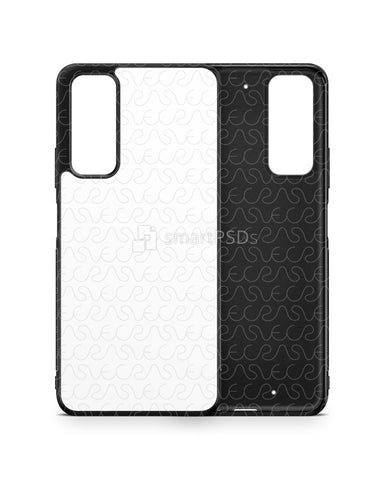 Huawei P Smart (2021) 2d Rubber Flex Case Design Mockup