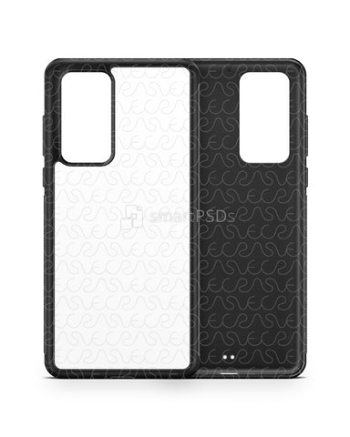 Huawei P40 (2020) 2d Rubber Flex Case Design Mockup