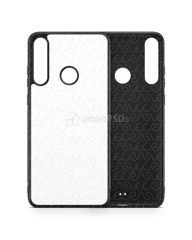 Huawei Y6p (2020) 2d Rubber Flex Case Design Mockup