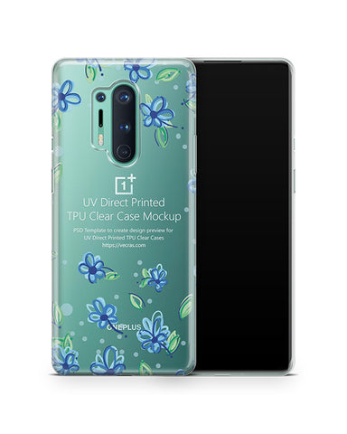 OnePlus 8 Pro (2020) TPU Clear Case Mockup