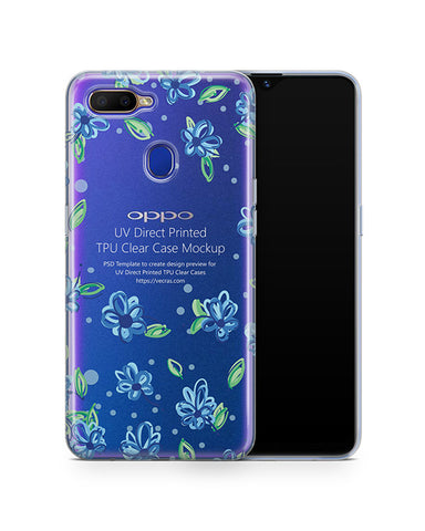 Oppo A5s (2019) TPU Clear Case Mockup