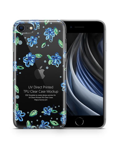iPhone SE (2020) TPU Clear Case Mockup
