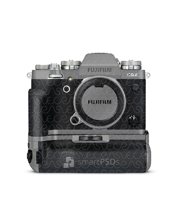 Fujifilm X-T3 Mirrorless Digital Camera (2018) Skin PSD Mockup Template