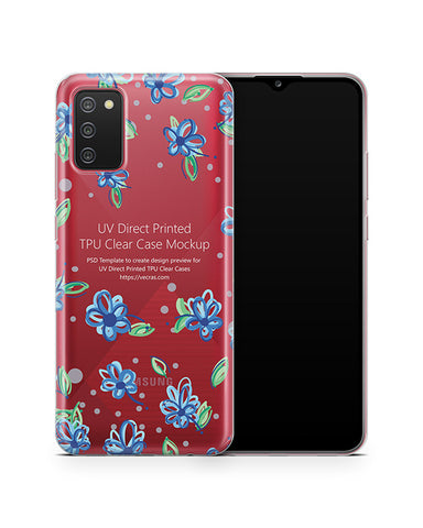 Galaxy A02s (2020) TPU Clear Case Mockup