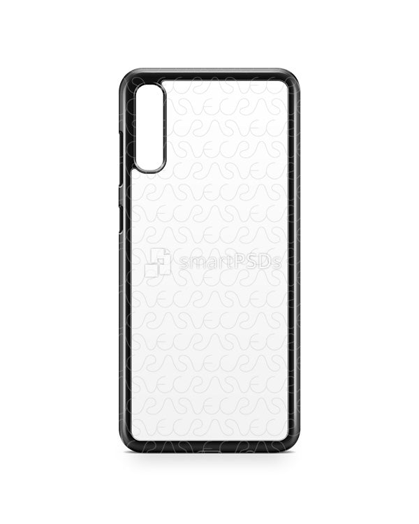 Samsung Galaxy A70 2d PC Colored Case Design Mockup 2019