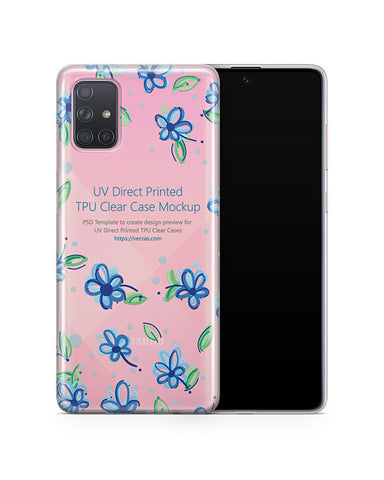 Galaxy A71 (2019) TPU Clear Case Mockup