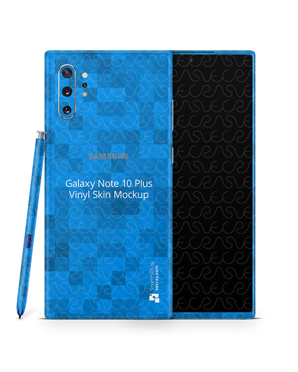 Galaxy Note 10 Plus Vinyl Skin Design Mockup 2019