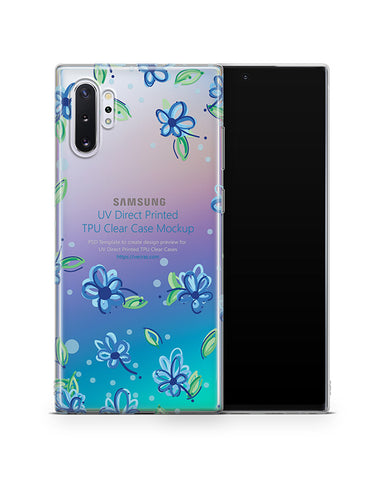 Galaxy Note 10 Plus TPU Clear Case Mockup 2019