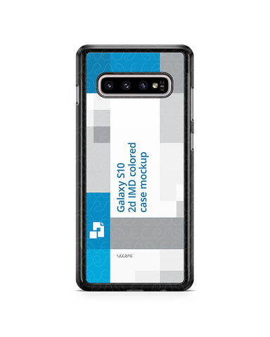 Samsung Galaxy S10 2d PC Colored Case Design Mockup 2019