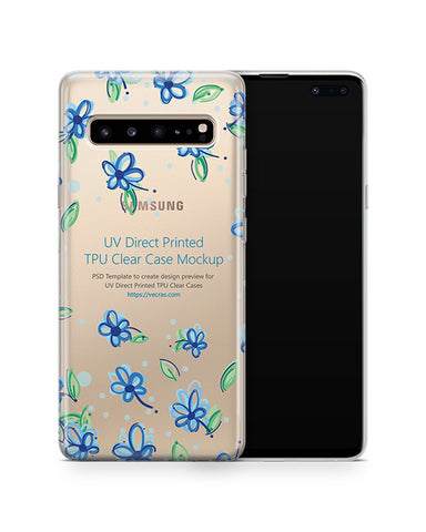 Galaxy S10 5G (2019) TPU Clear Case Mockup