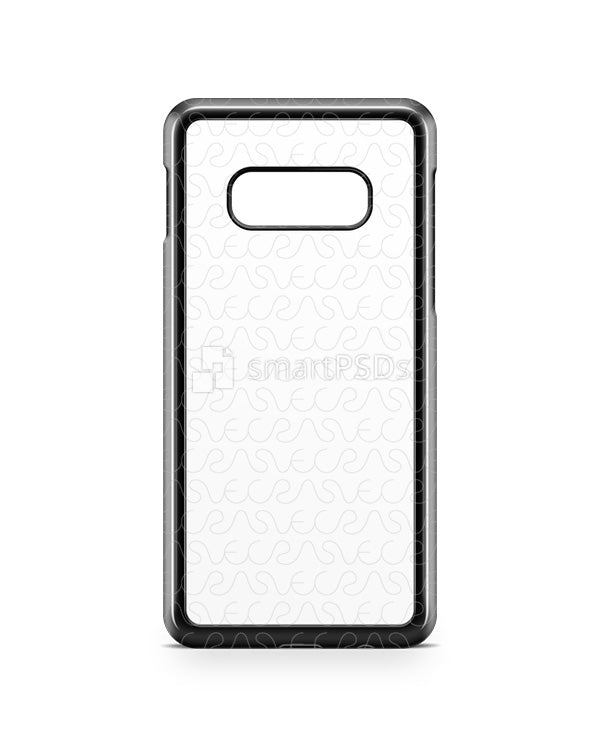 Samsung Galaxy S10 E 2d PC Colored Case Design Mockup 2019