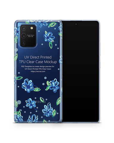 Galaxy S10 Lite (2020) TPU Clear Case Mockup