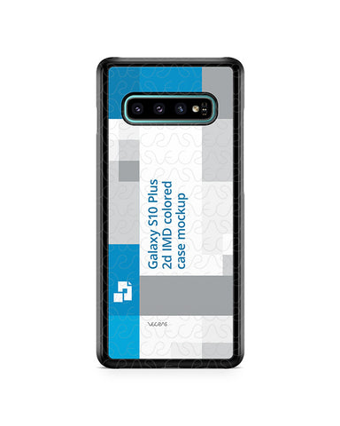 Samsung Galaxy S10 Plus 2d PC Colored Case Design Mockup 2019