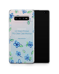 Samsung Galaxy S10 Plus UV TPU Clear Case Mockup 2019