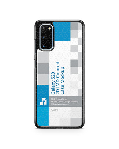 Galaxy S20 (2020) 2d PC Colored Case Design Mockup