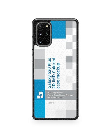 Galaxy S20 Plus (2020) 2d PC Colored Case Design Mockup