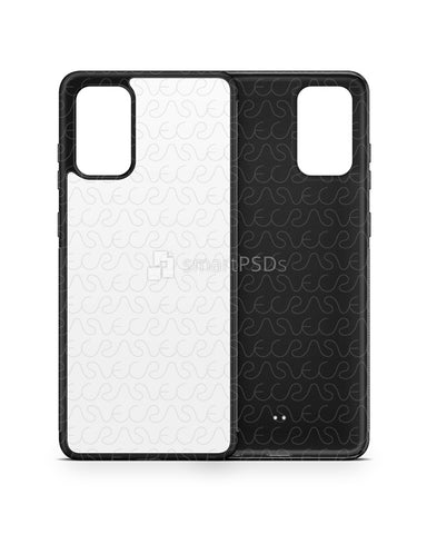 Galaxy S20 Plus (2020) 2d Rubber Flex Case Design Mockup
