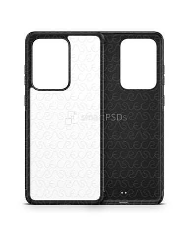 Galaxy S20 Ultra (2020) 2d Rubber Flex Case Design Mockup