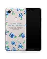 Google Pixel 3 XL UV TPU Clear Case Mockup 2018