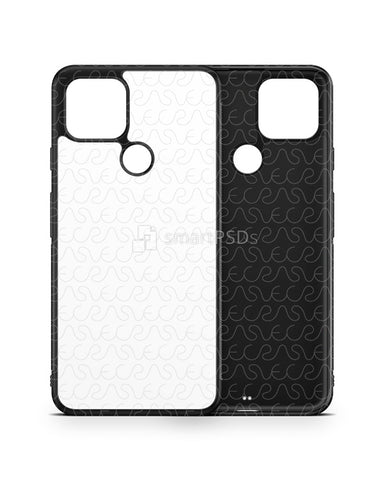 Google Pixel 4a 5G (2020) 2d Rubber Flex Case Design Mockup