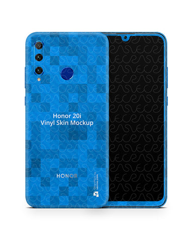 Honor 20i 2019 Vinyl Skin Design Mockup