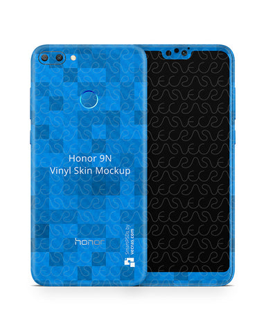 Honor 9N Vinyl Skin Design Mockup 2018