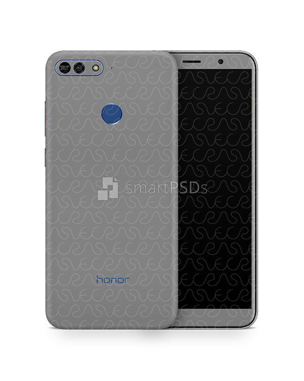 Honor 7A Vinyl Skin Design Mockup 2018