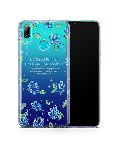 Huawei P Smart UV TPU Clear Case Mockup 2019