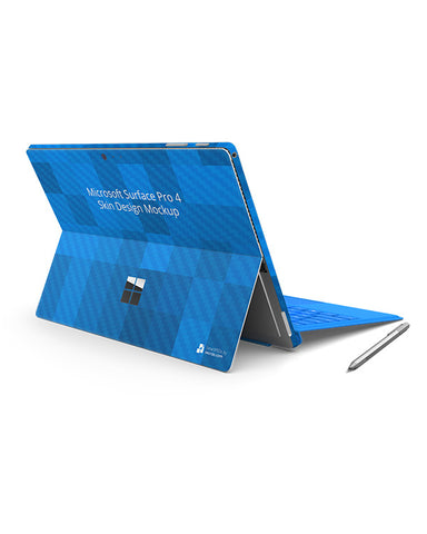 Surface Pro 4 Laptop Vinyl Skin Design Template (Full Wrap-4 Views)