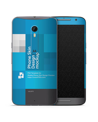 Moto X Style Mobile Skin Design Template