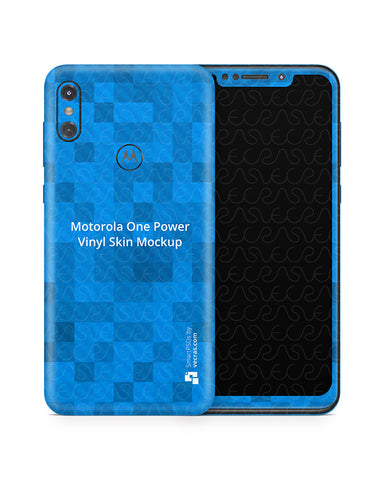 Moto One Power Vinyl Skin Design Mockup 2018