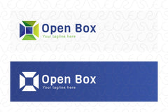 Open Box - Geometrical Shape Stock Logo Template