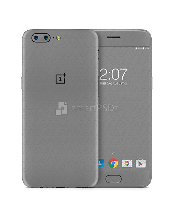 OnePlus 5 Mobile Skin Design Template