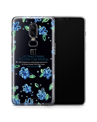 OnePlus 6 UV TPU Clear Case Design Mockup 2018